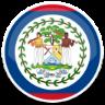 image drapeau cercle Bélize