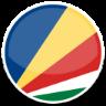 image drapeau cercle Seychelles
